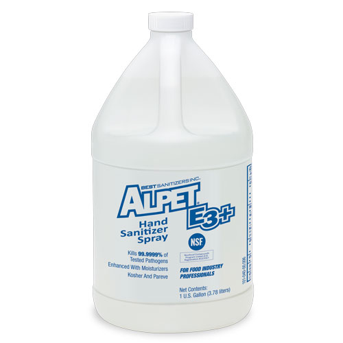 Alpet E3 Plus Hand Sanitizer Spray 4x1 Gallon Bottles